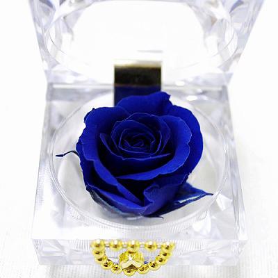 青いバラの花言葉は「夢叶う」結婚式の引き出物にも!ブルーバード【プリザーブドフラワー フラワーギフト プレゼント ギフト】