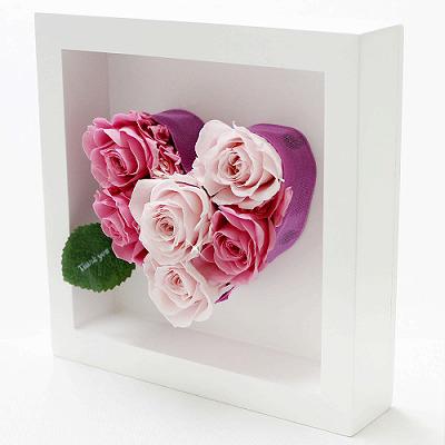 アモーレ ピンク【プリザーブドフラワー アレンジメント フラワーギフト プレゼント ギフト】の画像2枚目