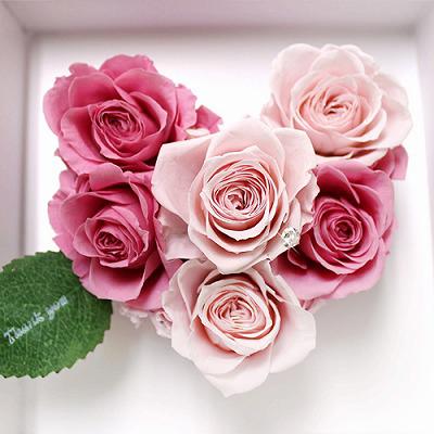 アモーレ ピンク【プリザーブドフラワー アレンジメント フラワーギフト プレゼント ギフト】の画像3枚目