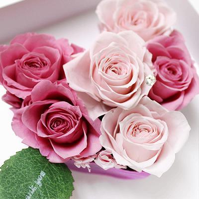 アモーレ ピンク【プリザーブドフラワー アレンジメント フラワーギフト プレゼント ギフト】の画像4枚目