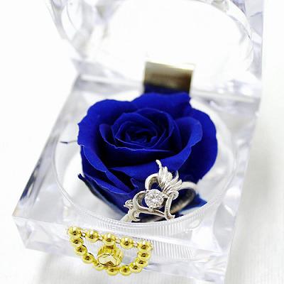 青いバラの花言葉は「夢叶う」結婚式の引き出物にも!ブルーバード【プリザーブドフラワー フラワーギフト プレゼント ギフト】の画像2枚目