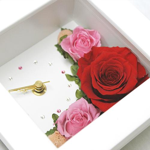 時計とお花のアレンジ アナスタシア【プリザーブドフラワー アレンジメント フラワーギフト プレゼント ギフト】の画像3枚目