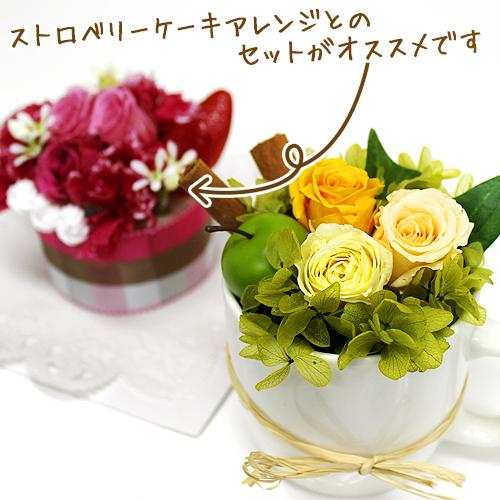 フレッシュモーニングカップ【プリザーブドフラワー アレンジメント フラワーギフト プレゼント ギフト】の画像6枚目