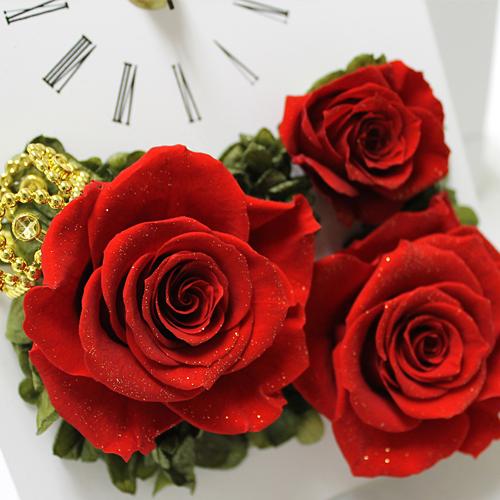 写真たてとお花が一体になった クラウンローズ【プリザーブドフラワー アレンジメント フラワーギフト プレゼント ギフト】の画像3枚目