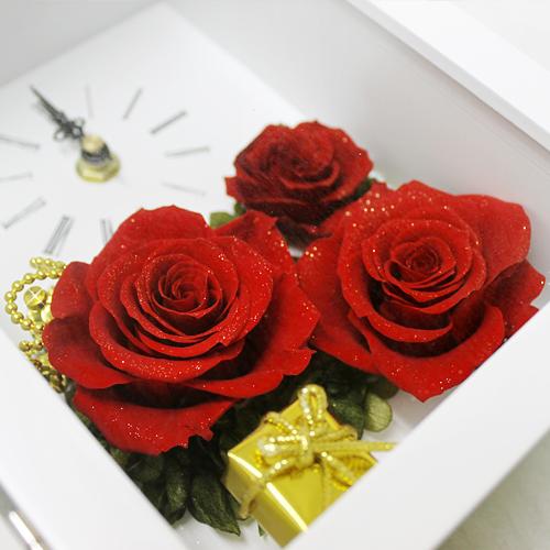 写真たてとお花が一体になった クラウンローズ【プリザーブドフラワー アレンジメント フラワーギフト プレゼント ギフト】の画像4枚目