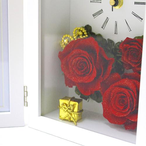 写真たてとお花が一体になった クラウンローズ【プリザーブドフラワー アレンジメント フラワーギフト プレゼント ギフト】の画像5枚目