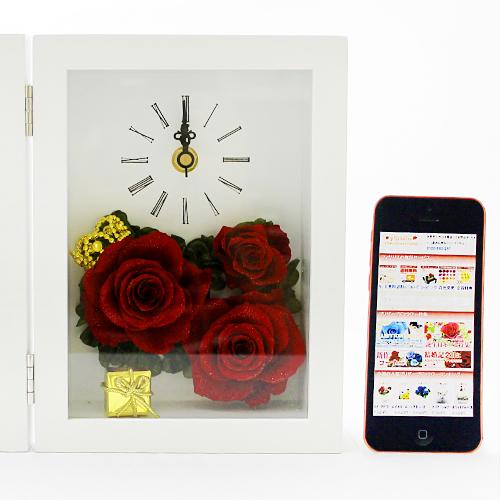 写真たてとお花が一体になった クラウンローズ【プリザーブドフラワー アレンジメント フラワーギフト プレゼント ギフト】の画像6枚目