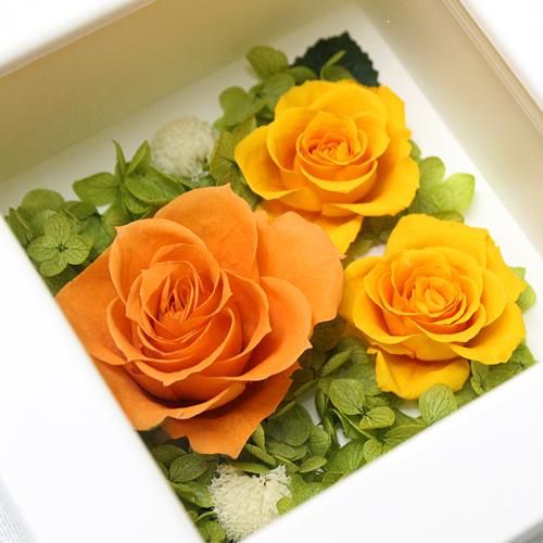 訪れ 橙【プリザーブドフラワー アレンジメント フラワーギフト プレゼント ギフト】の画像3枚目
