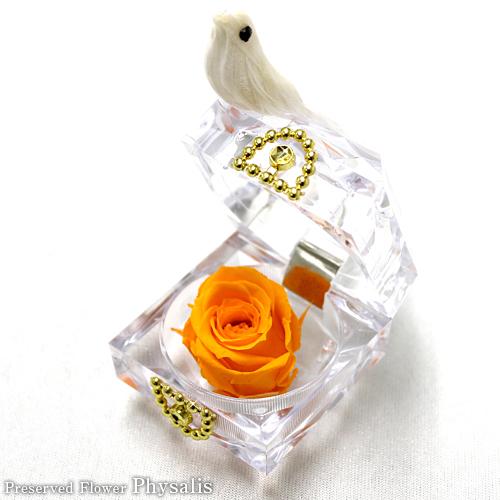 オレンジバード【プリザーブドフラワー アレンジメント フラワーギフト プレゼント ギフト】の画像1枚目