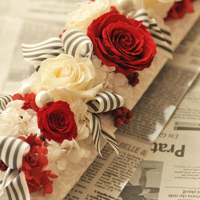 デザイナーズプリザーブド レクタングル【花・ガーデン・DIY > フラワー】記念日向けギフトの通販サイト「バースデープレス」
