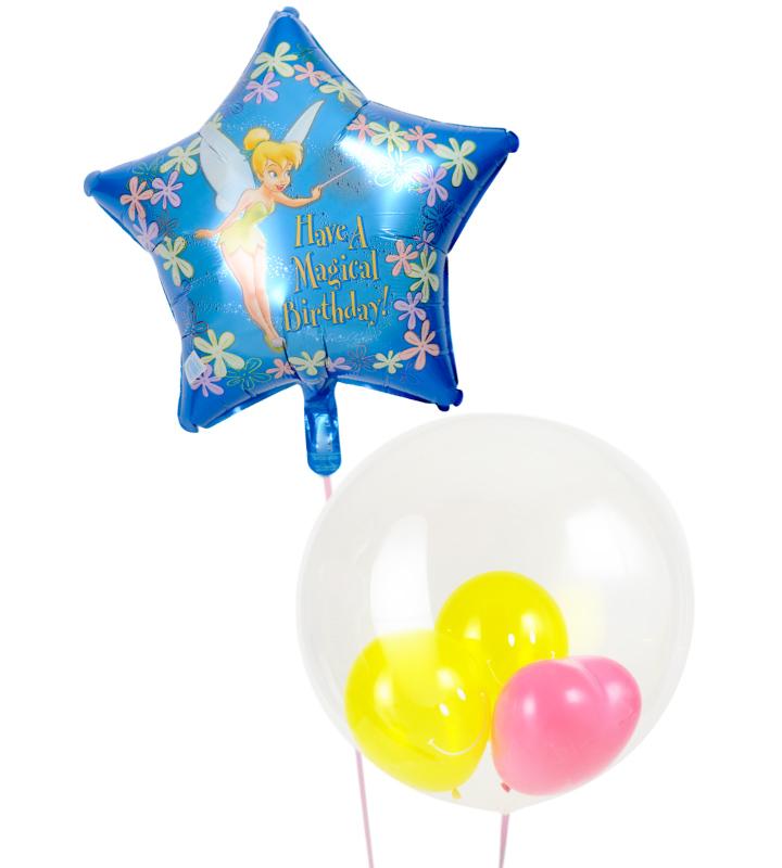 かわいいぷちハート&スマイルとスターティンカーベルの誕生日ミニブーケ【誕生日のバルーン電報・バルーンギフト】 g-btd-0018::966【おもちゃ・ホビー・ゲーム > パーティー・イベント用品・販促品 > パーティー・イベント用品 > バルーン・風船】記念日向けギフトの通販サイト「バースデープレス」