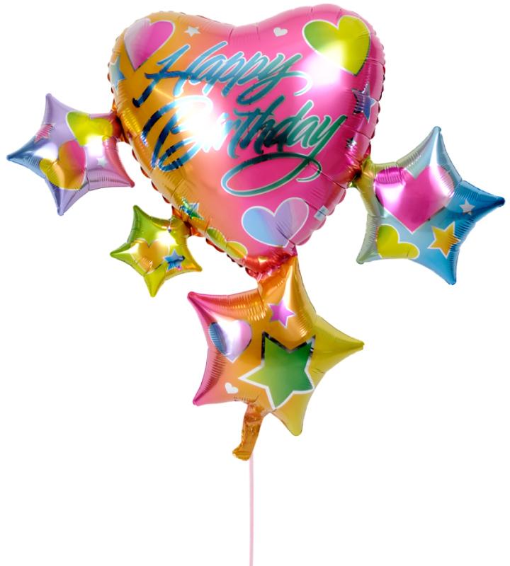 スパークリングスター&ハートの誕生日ブーケ【誕生日のバルーン電報・バルーンギフト】 g-btd-0024::966【おもちゃ・ホビー・ゲーム > パーティー・イベント用品・販促品 > パーティー・イベント用品 > バルーン・風船】記念日向けギフトの通販サイト「バースデープレス」