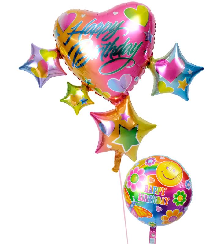 スパークリングスター&ハートとハッピースマイルの誕生日ブーケ【誕生日のバルーン電報・バルーンギフト】 g-btd-0036::966【おもちゃ・ホビー・ゲーム > パーティー・イベント用品・販促品 > パーティー・イベント用品 > バルーン・風船】記念日向けギフトの通販サイト「バースデープレス」