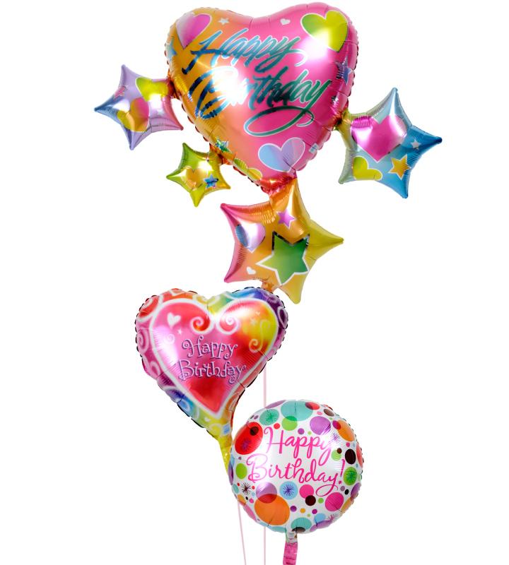 スパークリングスター&ハートと可愛いハートと華やかドットの誕生日ブーケ【誕生日のバルーン電報・バルーンギフト】 g-btd-0058::966【おもちゃ・ホビー・ゲーム > パーティー・イベント用品・販促品 > パーティー・イベント用品 > バルーン・風船】記念日向けギフトの通販サイト「バースデープレス」