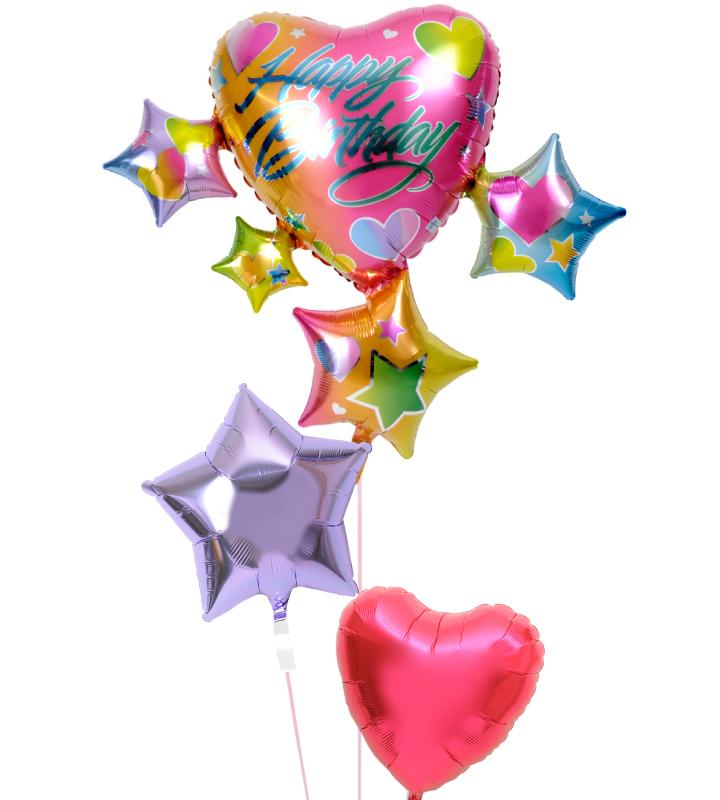 スパークリング☆スター&ハートの誕生日ブーケ【誕生日のバルーン電報・バルーンギフト】 g-btd-0087::966【おもちゃ・ホビー・ゲーム > パーティー・イベント用品・販促品 > パーティー・イベント用品 > バルーン・風船】記念日向けギフトの通販サイト「バースデープレス」