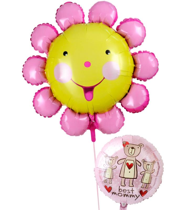 にこにこフラワーとピンクのクマの母の日に贈るバルーン電報・バルーンギフト【母の日のバルーン電報・バルーンギフト】 g-mtr-0006::966【おもちゃ・ホビー・ゲーム > パーティー・イベント用品・販促品 > パーティー・イベント用品 > バルーン・風船】記念日向けギフトの通販サイト「バースデープレス」