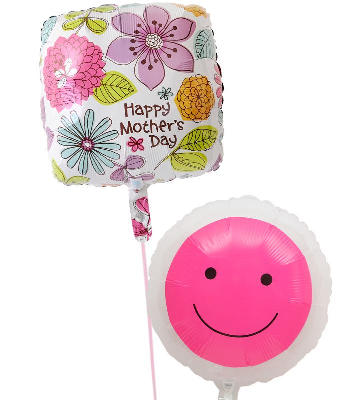 スクエアフラワーと透明ピンクスマイルの母の日に贈るバルーン電報・バルーンギフト【母の日のバルーン電報・バルーンギフト】 g-mtr-0007::966【おもちゃ・ホビー・ゲーム > パーティー・イベント用品・販促品 > パーティー・イベント用品 > バルーン・風船】記念日向けギフトの通販サイト「バースデープレス」