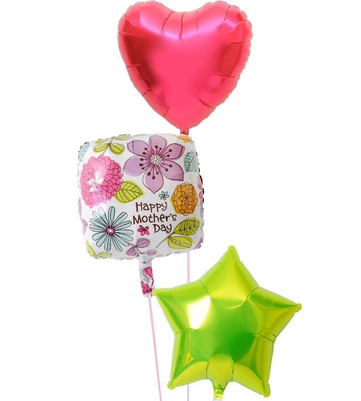 レッドハートとスクエアフラワー、ライムグリーンスターの母の日に贈るバルーン電報・バルーンギフト【母の日のバルーン電報・バルーンギフト】 g-mtr-0019::966【おもちゃ・ホビー・ゲーム > パーティー・イベント用品・販促品 > パーティー・イベント用品 > バルーン・風船】記念日向けギフトの通販サイト「バースデープレス」