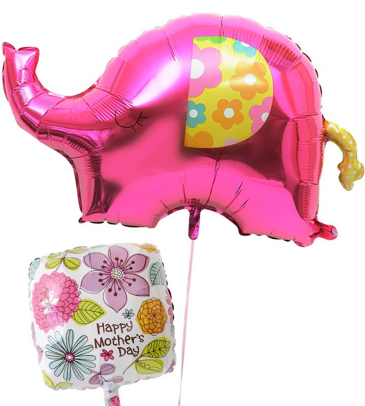 大きな象とスクエアフラワーの母の日に贈るバルーン電報・バルーンギフト【母の日のバルーン電報・バルーンギフト】 g-mtr-0024::966【おもちゃ・ホビー・ゲーム > パーティー・イベント用品・販促品 > パーティー・イベント用品 > バルーン・風船】記念日向けギフトの通販サイト「バースデープレス」