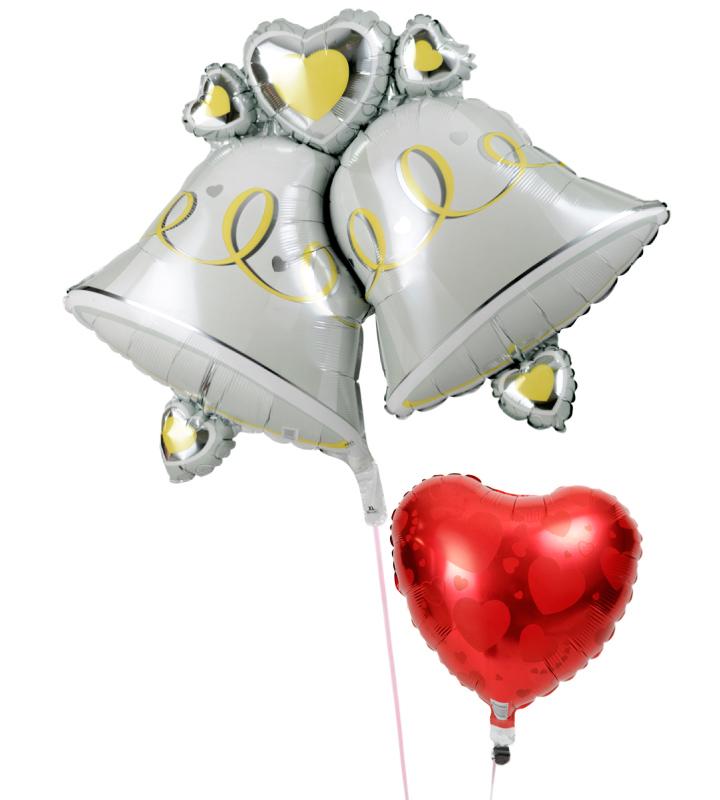 大きなウェディングベルとレッドハートの結婚式お祝いブーケ【結婚式のバルーン電報・バルーンギフト】 g-wed-0014::966【おもちゃ・ホビー・ゲーム > パーティー・イベント用品・販促品 > パーティー・イベント用品 > バルーン・風船】記念日向けギフトの通販サイト「バースデープレス」