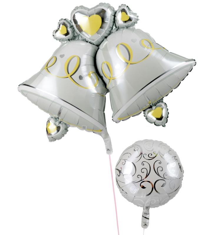 大きなウェディングベルとホワイトバルーンの結婚式お祝いブーケ【結婚式のバルーン電報・バルーンギフト】 g-wed-0015::966【おもちゃ・ホビー・ゲーム > パーティー・イベント用品・販促品 > パーティー・イベント用品 > バルーン・風船】記念日向けギフトの通販サイト「バースデープレス」