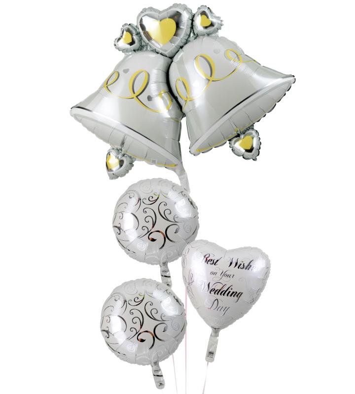 大きなウェディングベルとホワイトバルーン、ホワイトハートの結婚式お祝いブーケ【結婚式のバルーン電報・バルーンギフト】 g-wed-0028::966【おもちゃ・ホビー・ゲーム > パーティー・イベント用品・販促品 > パーティー・イベント用品 > バルーン・風船】記念日向けギフトの通販サイト「バースデープレス」