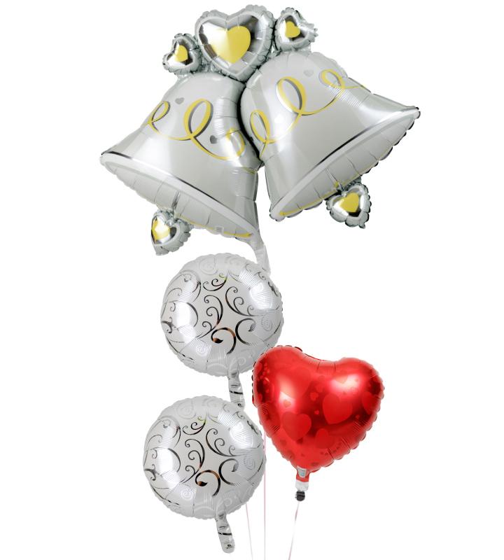 大きなウェディングベルとホワイトバルーン、レッドハートの結婚式お祝いブーケ【結婚式のバルーン電報・バルーンギフト】 g-wed-0029::966【おもちゃ・ホビー・ゲーム > パーティー・イベント用品・販促品 > パーティー・イベント用品 > バルーン・風船】記念日向けギフトの通販サイト「バースデープレス」