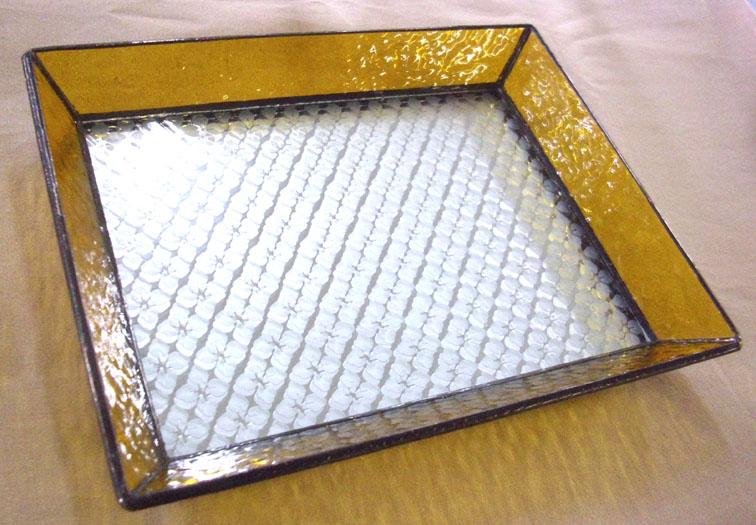 ステンドグラスのトレーST-1301【誕生日 バースデー ギフト 贈り物 プレゼント お祝い ハンドメイド 一点物】の画像1枚目