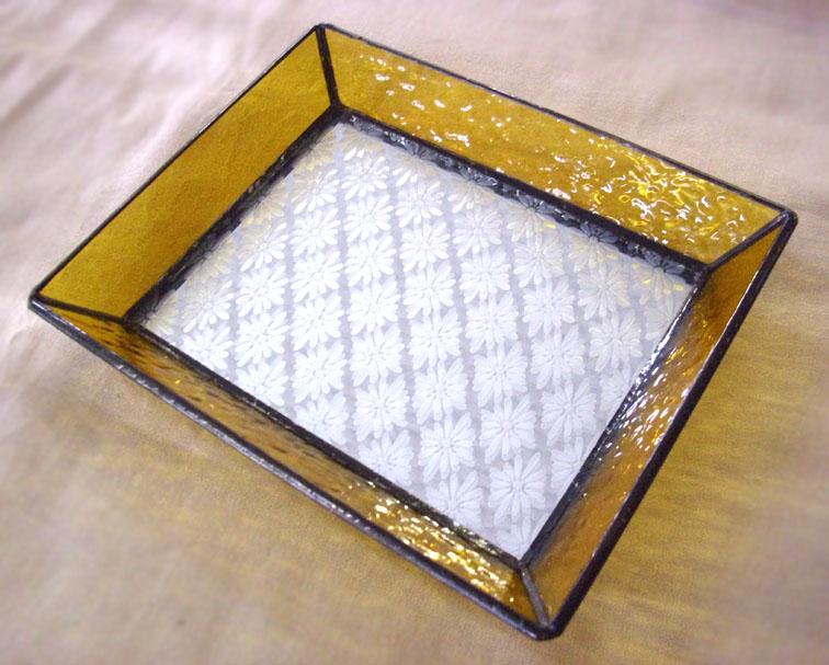 ステンドグラスのトレーST-1310【誕生日 バースデー ギフト 贈り物 プレゼント お祝い ハンドメイド 一点物】の画像1枚目