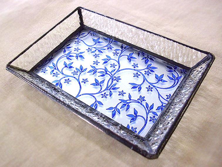ステンドグラスのトレーST-1317【誕生日 バースデー ギフト 贈り物 プレゼント お祝い ハンドメイド 一点物】の画像1枚目