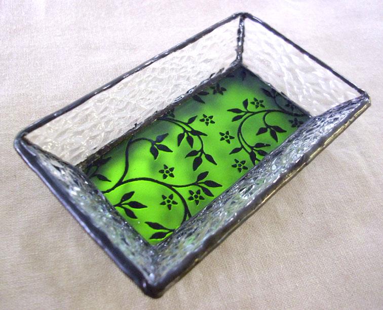 ステンドグラスのトレーST-1319【誕生日 バースデー ギフト 贈り物 プレゼント お祝い ハンドメイド 一点物】の画像1枚目
