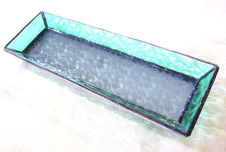 ステンドグラスのトレーST-1324【誕生日 バースデー ギフト 贈り物 プレゼント お祝い ハンドメイド 一点物】の画像1枚目