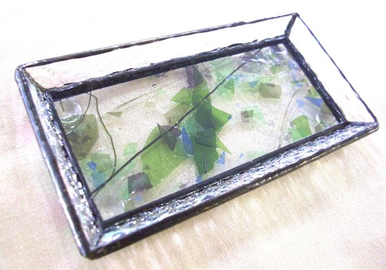 ステンドグラスのトレーST-1332【誕生日 バースデー ギフト 贈り物 プレゼント お祝い ハンドメイド 一点物】の画像1枚目