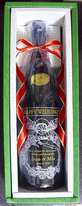 ボトル彫刻(オリジナルデザイン、酒代込み)ワイン赤、ワイン白、ワインロゼ、麦焼酎、芋焼酎、日本酒::990【インテリア・寝具・収納 > インテリア小物・置物】記念日向けギフトの通販サイト「バースデープレス」