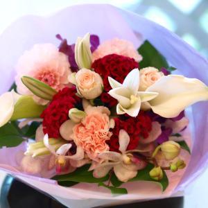 ピンクとパープルの花束「メヌエット」【プレゼント 指定日可 ギフト 花束 お祝い イベント 記念日】の画像2枚目