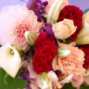 ピンクとパープルの花束「メヌエット」【プレゼント 指定日可 ギフト 花束 お祝い イベント 記念日】の画像3枚目