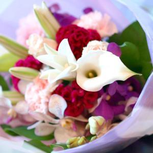 ピンクとパープルの花束「メヌエット」【プレゼント 指定日可 ギフト 花束 お祝い イベント 記念日】の画像4枚目