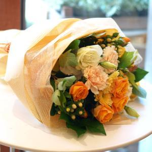明るくって華やかなオレンジで「ブーケ・オランジェ」【プレゼント 指定日可 ギフト 花束 お祝い イベント 記念日】