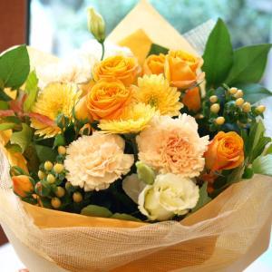 明るくって華やかなオレンジで「ブーケ・オランジェ」【プレゼント 指定日可 ギフト 花束 お祝い イベント 記念日】の画像4枚目