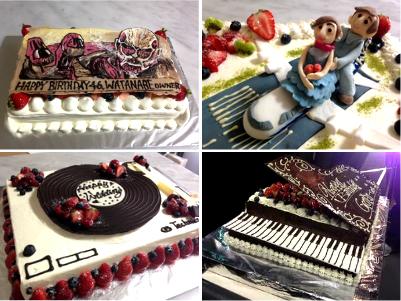 【東京 横浜市、みなとみらい近辺配送】【送料無料】【パーティ用 ウエディング用ケーキの生ケーキを宅配】【40×60cm】グランドピアノの画像1枚目