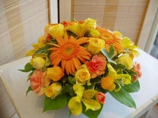 明るく元気の出るアレンジ 〈 ハピネス 〉【花 フラワーギフト プレゼント】の画像1枚目