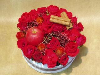 BIRTHDAYフラワーケーキ「アップルケーキ」の画像1枚目