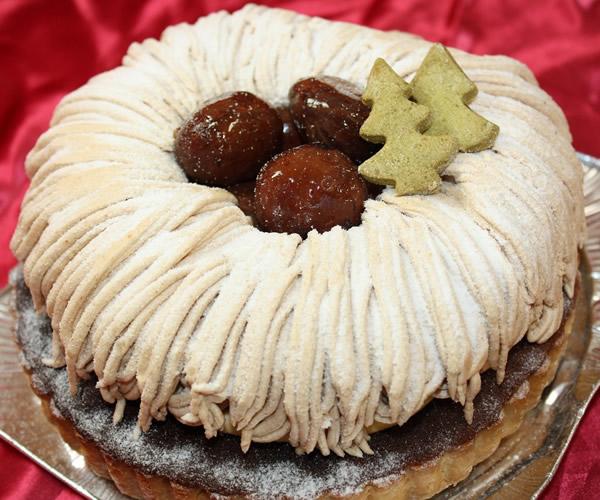 栗のモンブランタルト5号【バースデー 誕生日 デコ バースデーケーキ】の画像1枚目