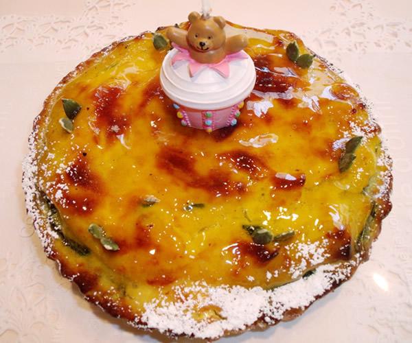 【ポイント10倍】有機かぼちゃタルト5号【バースデー 誕生日 デコ バースデーケーキ】