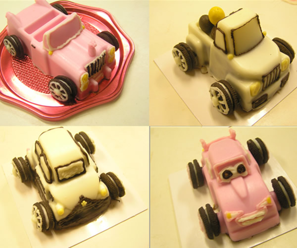 おまかせ車のケーキ