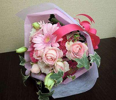 花束 ピンク【誕生日 記念日 贈答 アレンジメント 花 バースデー 敬老の日】