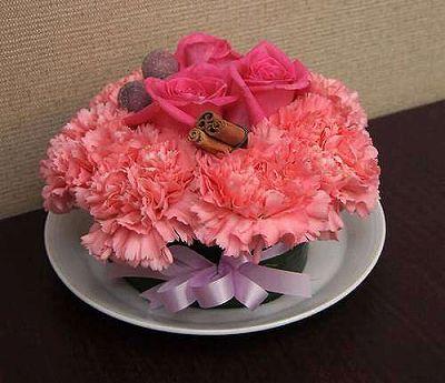 フラワーケーキ ピンク