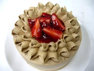 生チョコクリームの苺デコレーションケーキ 7号 21cmの画像1枚目