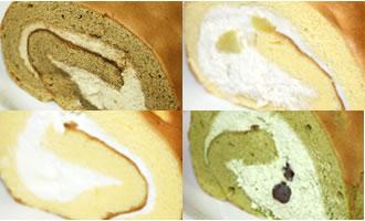 ロールケーキ4本組(コーヒー×栗×たまご×抹茶)の画像1枚目