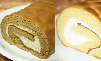 ロールケーキ2本組(コーヒー×たまご)の画像1枚目